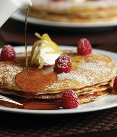 Legendary Lemon Ricotta Pancakes by @Mandy Dewey Seasons Hotel New York. Click through for the recipe.