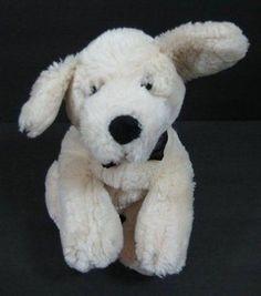"9"" Cream SPIKE PUPPY Dog Groom Victoria's Secret Plush Stuffed Toy B236"