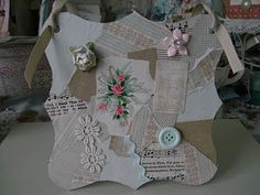Chipboard collage