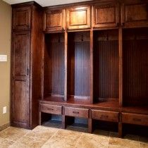 """lockers' in the mudroom/laundry  but with out the drawers maybe ??"