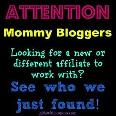 Attention Mommy/baby/children Bloggers – New Affiliate Info!  Blogging Tip: When it comes to monetizing your blog and dealing with affiliates, NEVER put all your eggs in one basket. Work with several. Check out a new one we just found, perfect for #MomBloggers http://www.girlswithcoupons.com/attention-mommy-bloggers-new-affiliate-info/