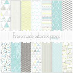 Love Graphics - free printable digital patterned paper set PREVIEW by melstampz, via Flickr