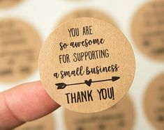 Thank you for supporting a small business Small Business Etsy Business, Craft Business, Business Branding, Business Tips, Thank You Customers, Dessert Packaging, Thank You Card Design, Clothing Packaging, Business Thank You Cards