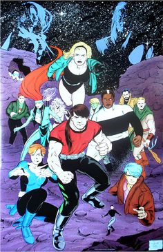 "1993 Legion v.4, retail (22″ x 34″); By Stuart Immonen. This is the ""Five Years Later"" Legion."