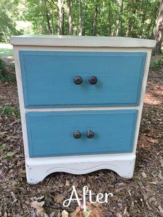 2 Drawer chest. after