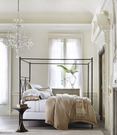 This textured linen twill bedding collection by @Matouk gets softer with each wash.