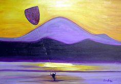 """""""Kitesurf"""" - Acrílico. Projeto """"Pousada Vila das Velas"""". Dezembro 2005."""