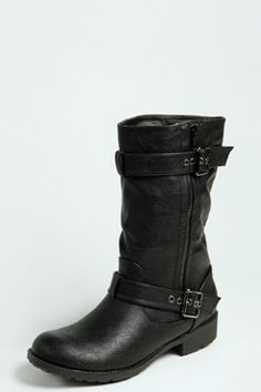 Mya Buckle Trim Biker Boot