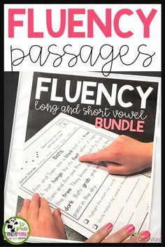 Fluency Passages Long and Short Vowel BUNDLE