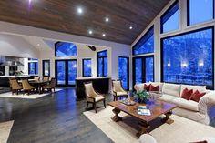 wood floors, ceiling and windows