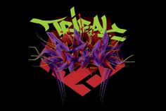 2011 t-shirt design for Tribal gear. Horizontal Vamp fang style 3D Tribal by Misk1