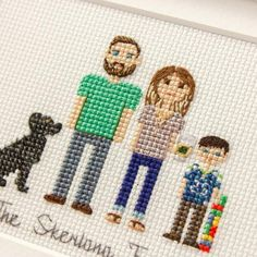 Cross Stitch Embroidery, Cross Stitch Patterns, Cross Stitch Family, Cross Stitch Tutorial, Crochet Winter, Paper Anniversary, Digital Pattern, Embroidery Designs, Personalized Gifts