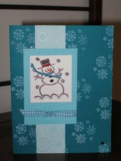 Crayon Christmas-Snowman by klynn - Cards and Paper Crafts at Splitcoaststampers