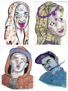 Zombies. Illustrator / photoshop. Uni Project.