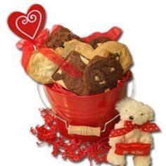 Valentine's Day Gift Basket David's Cookies Be Mine with Teddy Valentines Day Cookies, Valentine Day Gifts, Brownie Cake, Brownies, Davids Cookies, Valentine's Day Gift Baskets, Dog Food Recipes, Goodies, Things To Come