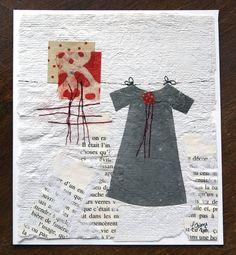 little paper dresses | Little paper dress, original creation, art, decoration, gift card by ...