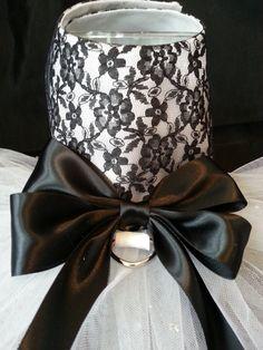 Black Lace Dog Harness Dress. XXSmall Dog by FashionTailsBoutique