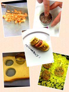 HAMBURGER DI GAMBERI CON VERZA 400 gr di gamberi rossi, olio extravergine, sale e pepe, 2 fette di pane in cassetta, prezzemolo, semi di sesamo, 100 gr di verza, 20 gr di pinoli, aglio.