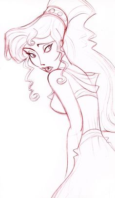 "The character Megara ""Meg,"" from the Disney movie 'Hercules. Disney Pixar, Kida Disney, Disney Hercules, Disney Animation, Disney And Dreamworks, Princesas Disney, Disney Love, Disney Magic, Disney Art"
