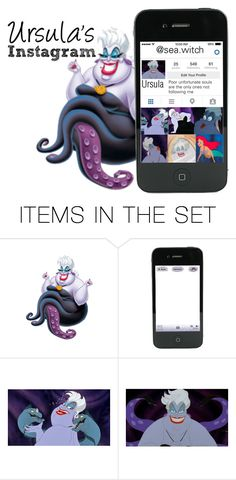 """""""Ursula's Instagram"""" by basic-disney ❤ liked on Polyvore featuring art"""