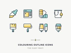 Easy Way To Colour Outline Icons