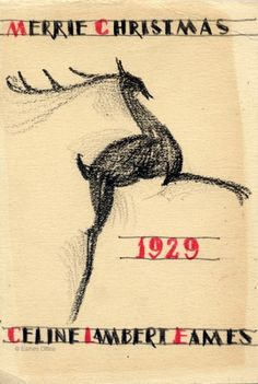A Christmas Card by Charles Eames, 1929.