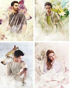 Derek, Stiles, Scott & Lydia.