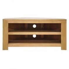Chunky Oak Furniture Corner TV Unit