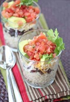 Burrito Cups (a great side dish or meal & no extra carbs because there's no wrap)