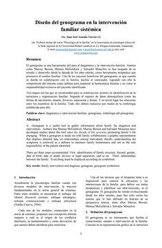 Diseño del genograma en la intervención familiar sistémica