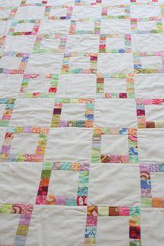 Gorgeous patchwork square quilt