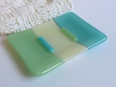 Hey, I found this really awesome Etsy listing at https://www.etsy.com/listing/169514322/fused-glass-soap-dish-in-turquoise-cream