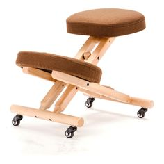 139.00$  Watch now - http://alidwr.worldwells.pw/go.php?t=32765514913 - Wood Ergonomic Kneeling Chair with Casters For Kids Height Adjustable Modern Children Furniture Kneeling Posture Study Chair