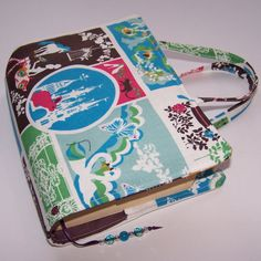 Fabric Book Cover Grown Up Fairy Tale Blue by whimsywoodesigns, £13.00