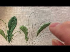 Embroidery - Satin Stitch for Leaves - YouTube