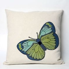 Pin it! :) Follow us :)) zPatioFurniture.com is your Patio Furniture Gallery ;) CLICK IMAGE TWICE for Pricing and Info :) SEE A LARGER SELECTION of  outdoor throw pillows at  http://zpatiofurniture.com/category/patio-furniture-categories/outdoor-throw-pillows/ - home, patio, throw pillows, pillows, homedecor - Butterfly Square Indoor/Outdoor Pillow in Green Size: 20″ « zPatioFurniture.com