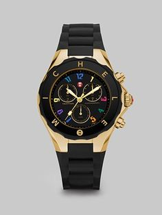 Michele Watches  Tahitian Jelly Bean Chronograph Watch/Black