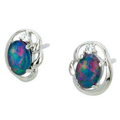 AUSTRALIA OPAL - Opal Earrings (E8200SB), $114.00 (http://www.australiaopal.com.au/opal-earrings-e8200sb/)