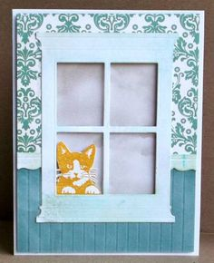 WT380 Another Window Card ... this is just like my cat and what he does while I am away