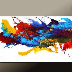 36 X 24 lienzo Original moderno arte pinturas contemporáneas de destino Womack - dos - paraíso del arte abstracto