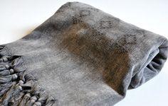 Turkish Towel Rug pattern Peshtemal towel Cotton Peshtemal Stone washed Black Towel, genuine hand loomed