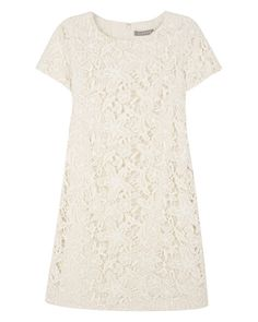 Vintage Lace Shift Dress in cream