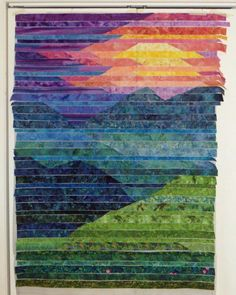 I thought I'd post a few pictures I took along the way making Blue Ridge Mtn.  (This is the quilt they chose to be the cover of my book!)...