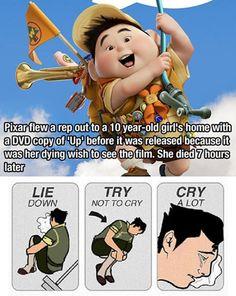 Pixar makes dreams come true.