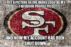 new orleans saints jokes   Put A Picture Of The 49ers Logo As My Facebook Profile Pic…   NFL ...