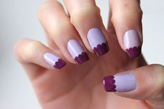 Scalloped nails. I could see this in pink and white or black and glitter
