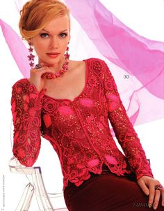 Crochet golden blouse
