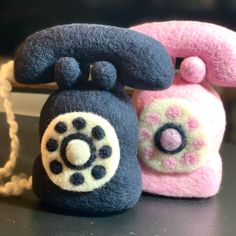 Wool Newborn Victorian phones 📞 in black or pink! #woolysquirrel #newbornphotography #newbornphotoprops Coffee Pics, Coffee Pictures, Newborn Photo Props, Newborn Photos, Love Photography, Newborn Photography, Felt Phone, Textile Art, Beautiful Images