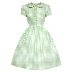 Bonnie Green Gingham Swing Dress | Vintage Style Dresses - Lindy Bop