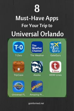 Eight of our favorite apps for travel to Universal Orlando. Navigate the Universal Theme Parks with ease using these handy apps.